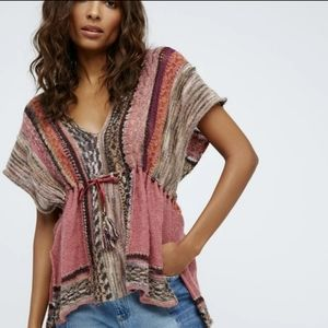 Free People XS Oversized Moonlit Path Boho Tunic